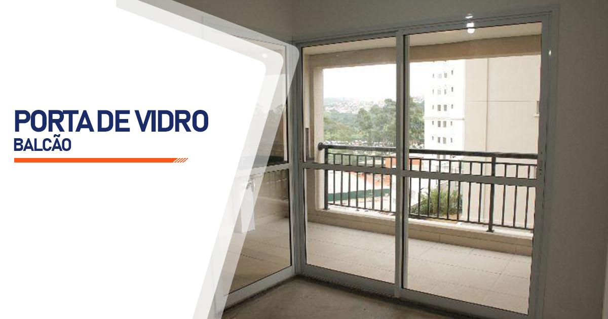Porta Balcão De Vidro Cotia
