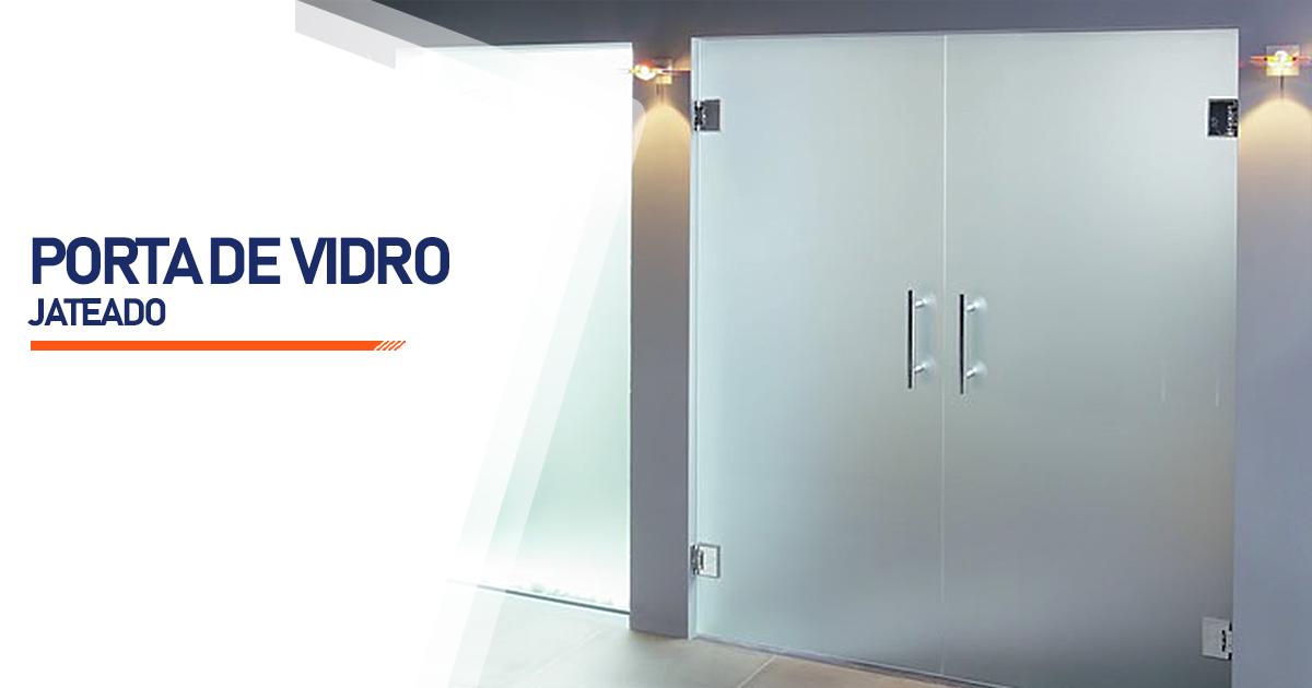 Porta De Vidro Jateado Cotia
